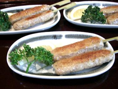 【2】 鴨つくね串焼き