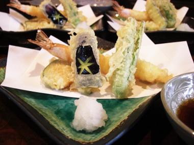 【5】 天ぷら(海老、野菜三品)